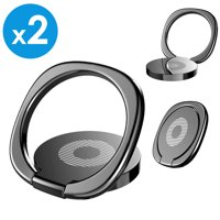 2 Pack Universal 360° Rotating Finger Ring Cell Phone Holder Grip Kickstand Desktop For Apple iPhone X iPhone 8 Plus Samsung Galaxy S8 S9+ Plus Note 9 Note 8 Galaxy S7 Edge LG G7 Google Pixel 2 XL