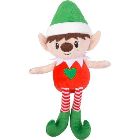 Green Hat Christmas Elf With Heart Chest On Your Shelf Decoration