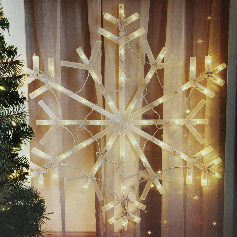 "23"" Lighted Snowflake Christmas Window Silhouette Decoration Walmart"