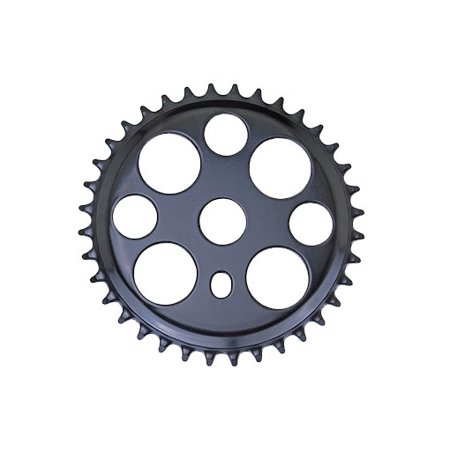 Lowrider Black Lucky 7 Steel Bike Sprocket 1/2 X 1/8 36t. Bike Part, Bicycle Part, Bike Accessory, Bicycle Part