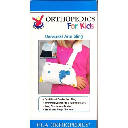 Cradle Arm Sling, Universal, Navy Poly Cotton, Measure forearm from elbow to base of little finger. By Florida Orthopedics From USA