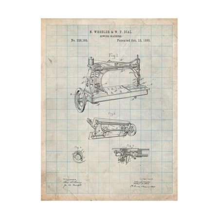 Wheeler And Wilson Sewing Machine Patent Print Wall Art By Cole Cool Patent For Sewing Machine