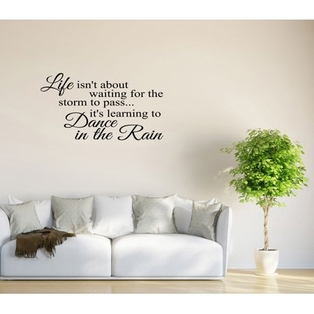 Wall Decal Quote Life Isn't About Waiting for the Storm to Pass GD1 - Qoutes About Halloween