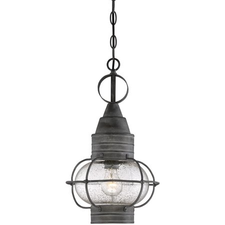 Black Oxidized Finish (Outdoor Pendant 1 Light With Oxidized Black Finish Incandescent Bulbs 10 inch 100 Watts )