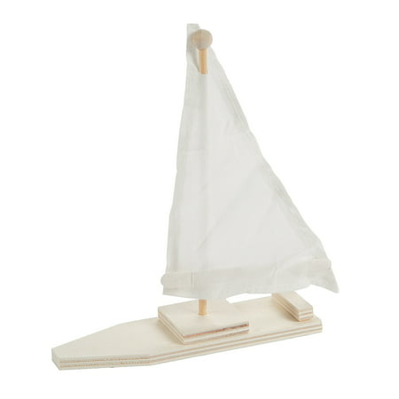 Fun Express - Diy Wood Sailboat Kits - Craft Kits - DYO - Wood - Toy - 12 Pieces (Fun Halloween Diy Projects)