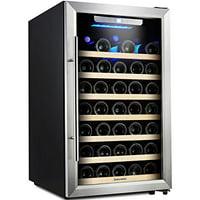 Kalamera Wine Cooler 50 Bottle Single Zone Refrigerator with Digital Temperature Display