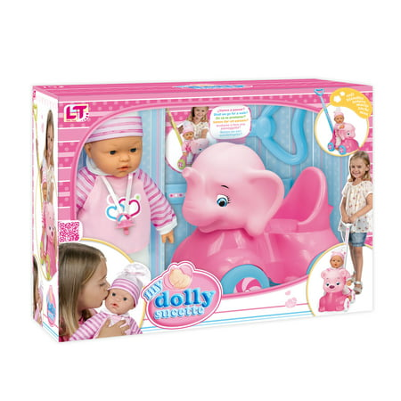 Loko Toys - Sweet Baby Doll With Elephant Baby Walker Playset