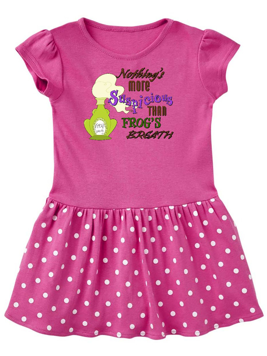 Nothing's More Suspicious than Frog's Breath Toddler Dress