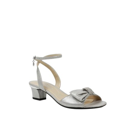 J.Renee Womens Davet Fabric Open Toe Special Occasion Ankle Strap Sandals