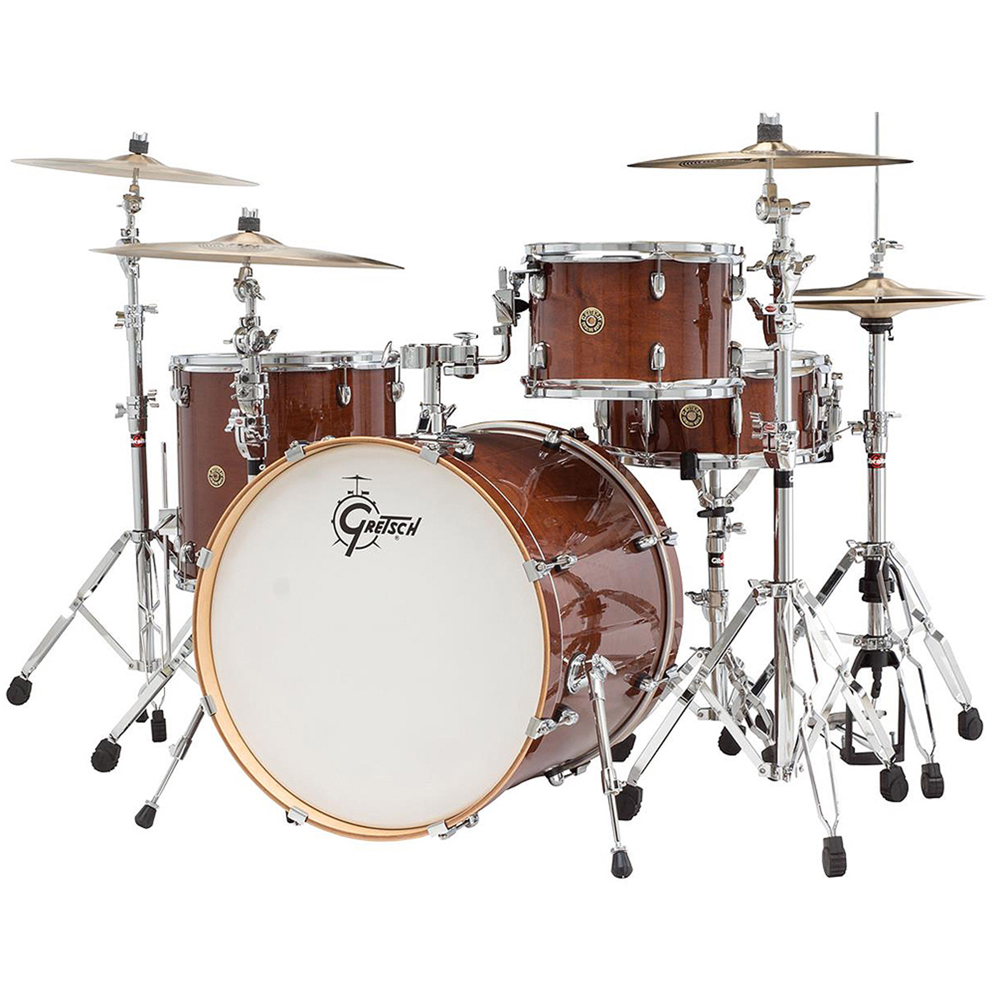 "Gretsch Catalina Maple CM1 4-Piece Shell Pack w  22"" Bass Drum Walnut Glaze by Gretsch"