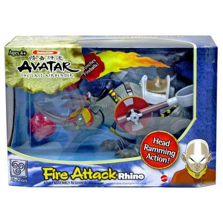 Avatar the Last Airbender Fire Attack Rhino (Avatar The Last Airbender Burger King Toys)