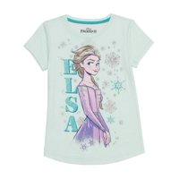 Frozen Elsa Girls Short Sleeve Tee