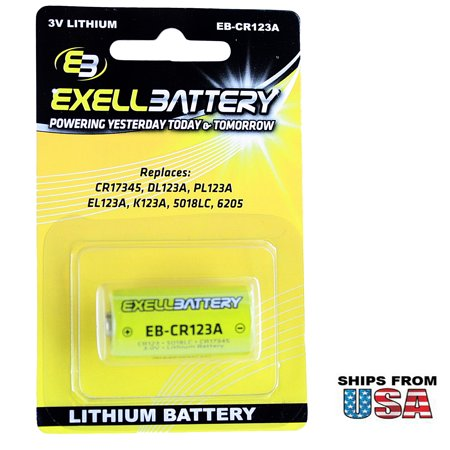 3.0V CR123A Blister Pk Lithium Battery Replace 123A 123-SANYO 5018LC 6205 BR2/3A
