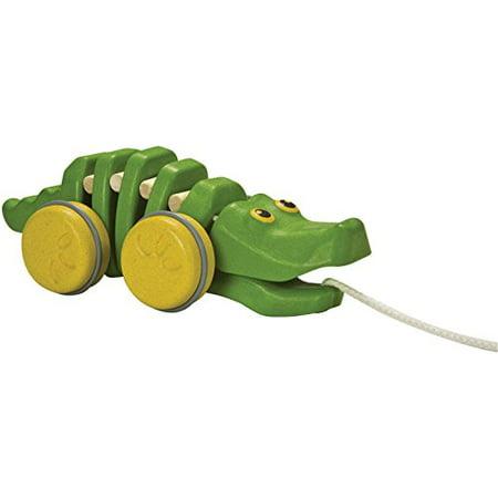 Plan Toys Preschool Dancing Alligator Pull Along Toy