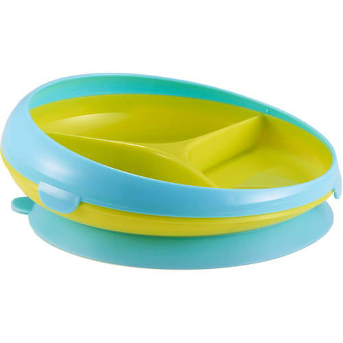 The First Years Inside Scoop Suction Sectioned Plate, BPA-Free, 1-Pack (Choose Your Color)