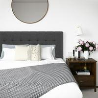 Better Homes and Gardens Porter Tufted Upholstered Full Queen Headboard, Gray