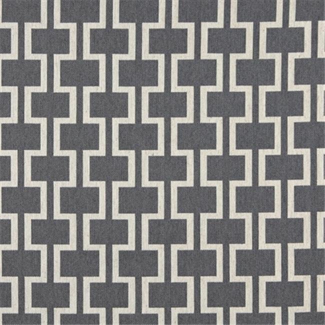 Designer Fabrics K0006B 54 in. Wide Cadet Blue And Off White, Modern, Geometric Designer Quality Upholstery Fabric
