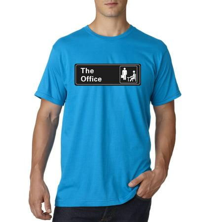 New Way 1155 - Unisex T-Shirt The Office TV Show Desk Logo 2XL Sapphire