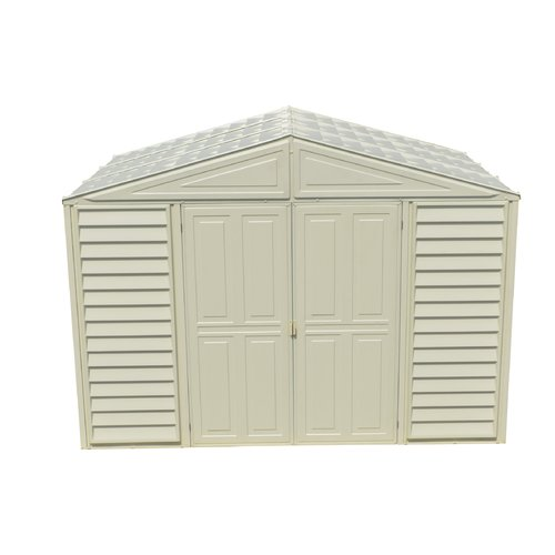 Duramax Building Products Wood Bridge 10.5ft.x 8ft. Plastic Traditional Storage Shed