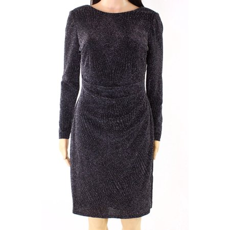 Womens Petite Shimmer Sheath Dress 16P](Shimmer Dress)
