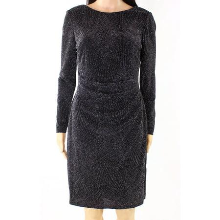 Womens Petite Shimmer Sheath Dress 16P](Shimmer Dresses)
