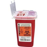 Covidien, CVDSR1Q100900, Sharps 1 Quart Sharps Container Flip Top, 1, Red