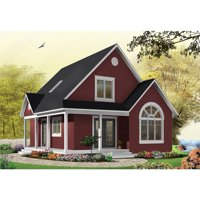 TheHouseDesigners-1197 Construction-Ready Country House Plan with Basement Foundation (5 Printed Sets)
