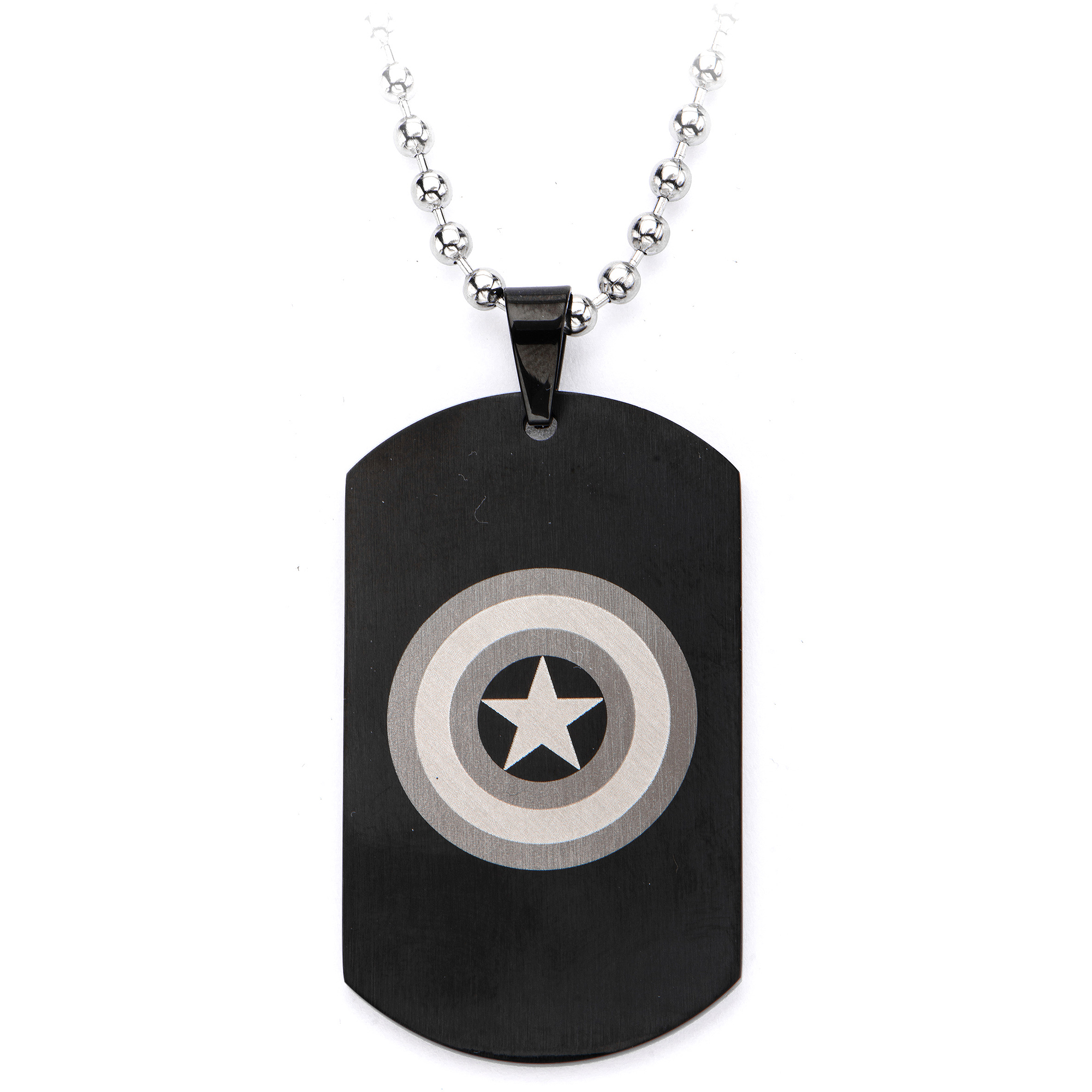 Marvel Captain America Steel Dog Tag with Chain