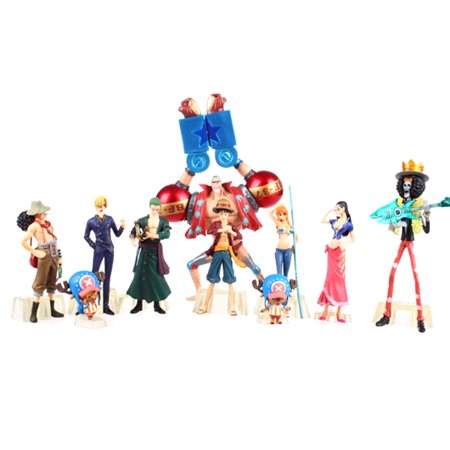 Fancyleo 10pcs / set Anime One Piece Action Figure Luffy Nami Roronoa Zoro-made (Variable Action Heroes Roronoa Zoro Action Figure)