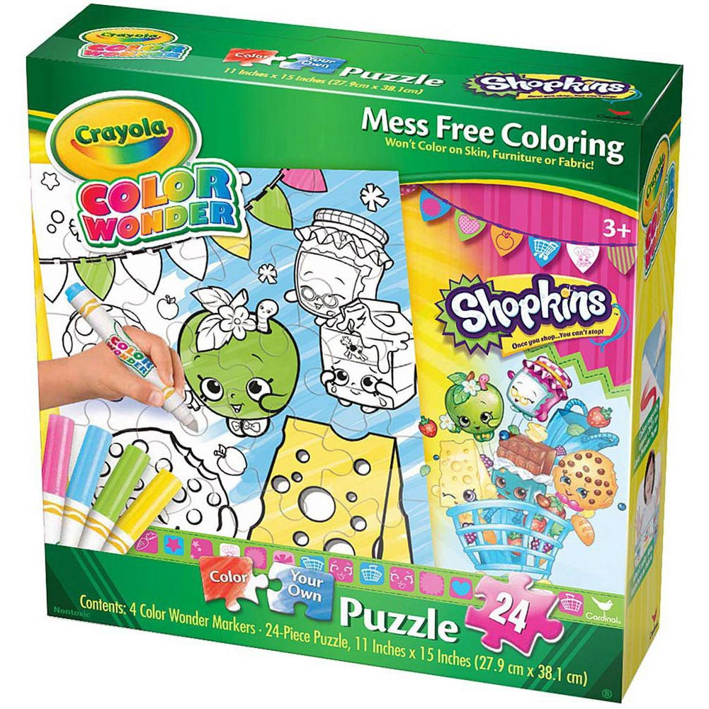 Shopkins Snacks Crayola Wonder 24 Piece Puzzle