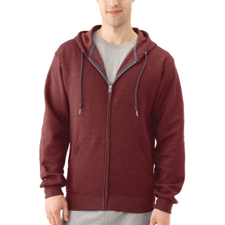 Fruit of the Loom Big Men's EverSoft Fleece Full Zip Hoodie Jacket (Mens Army Fleece Jacket)