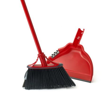 Unisan Angler Broom (O-Cedar Dual-Action Angler Indoor Broom with Dust Pan Set)