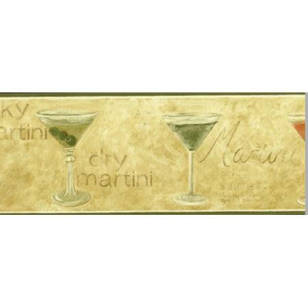 Martini Glass Wallpaper Border (Martini Glasses Wallpaper Border - Waverly )