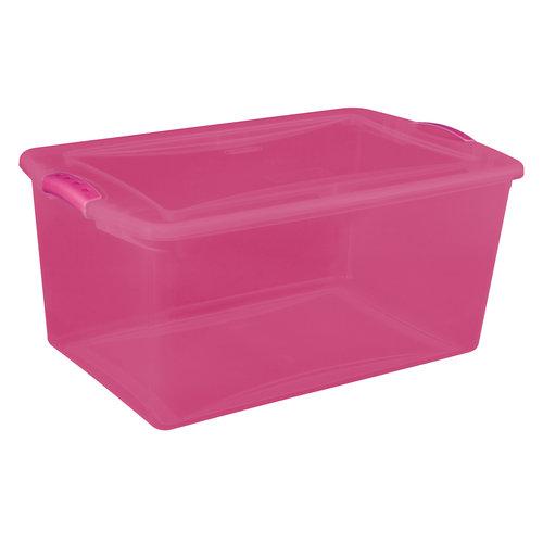 Sterilite 66-Quart Latch Box, Fuchsia Supreme Tint