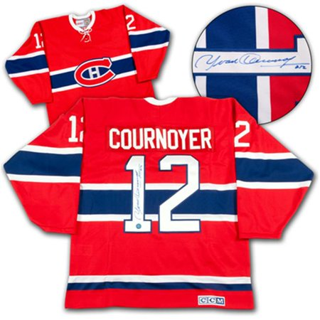 AJ Sports World COUY105000 YVAN COURNOYER Montreal Canadiens SIGNED Retro Hockey JERSEY by