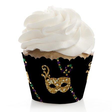 Mardi Gras - Masquerade Party Cupcake Wrappers - Set of 12 (Masquerade Theme Party Ideas)