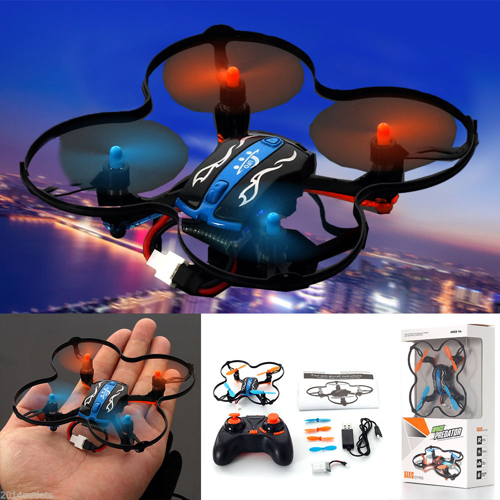 MINI RC Quadcopter UFO 2.4GHz 4CH 6-Axis GYRO Nano Helicopter Drone RTF Toys