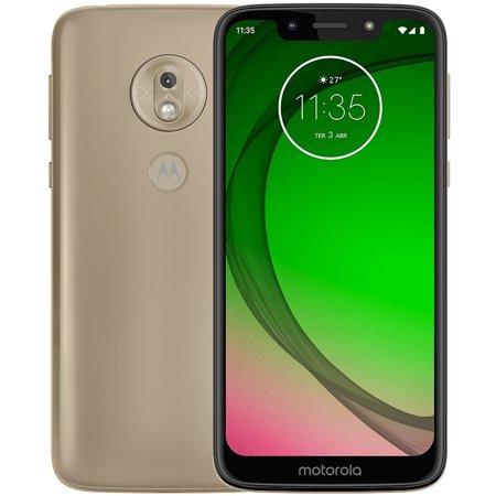"Motorola Moto G7 Play (32GB, 2GB RAM) Dual SIM 5.7"" 4G LTE (GSM Only) Factory Unlocked Smartphone International Model XT1952-2 (Gold)"