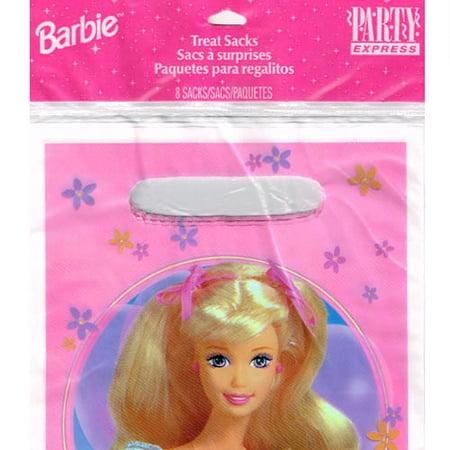Barbie Vintage 1997 'Flowers' Favor Bags (8ct) - Barbie Favors