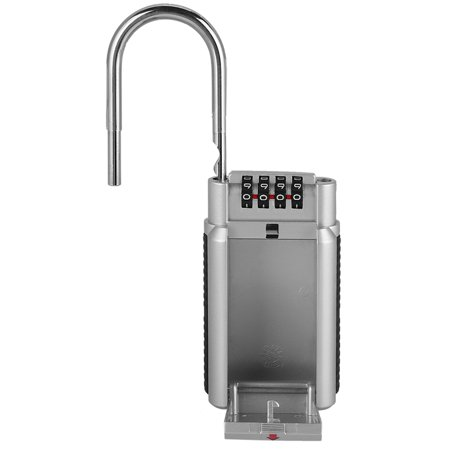 Yosoo Coffre fort Lockbox de boîte de serrure de stockage en métal de clé de cadenas de mot de passe, boîte de verrouillage de mot de passe, boîte de serrure principale - image 2 de 6