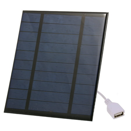 2.5W/5V/3.7V Portable Solar Charger With USB Port Compact Solar Panel Phone Charger For Camping Hiking