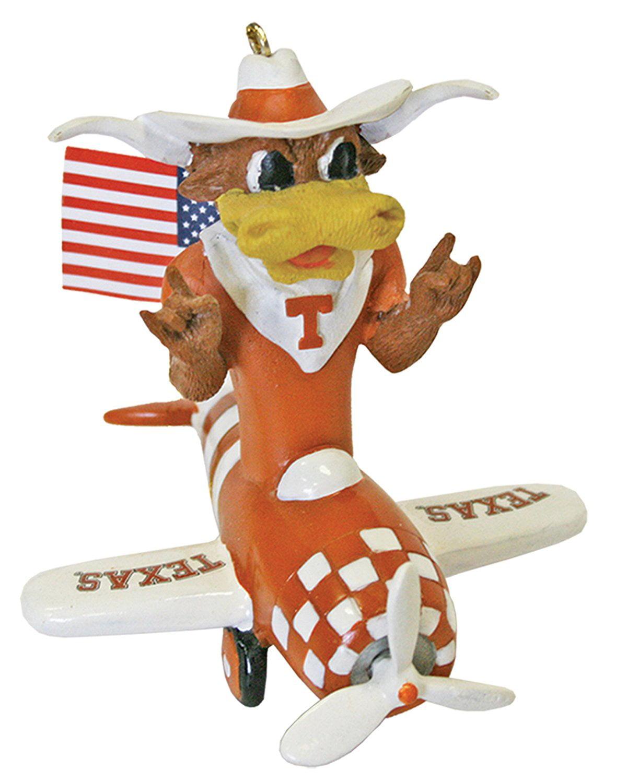 Champion Treasures Texas Longhorns 2-Piece Porcelain Figure Ornament Set