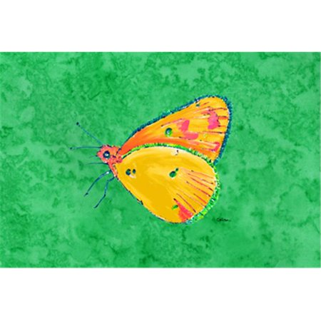 Butterfly Orange On Green Fabric Placemat - image 1 de 1