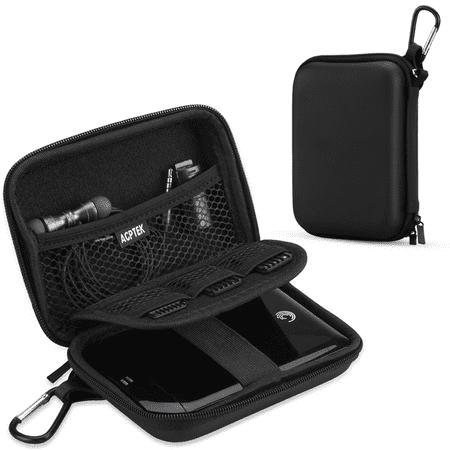 AGPTEK EVA Shockproof Hard Drive Carrying Case for 2.5-inch Portable External Hard Drive, MP3 Player, Power (Best Portable Hard Drive 2019)