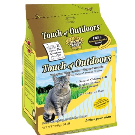 Precious Cat Dr. Elsey's Touch of Outdoors Natural Clay/Prairie Grass Multi-Cat Litter, 20 lb Box