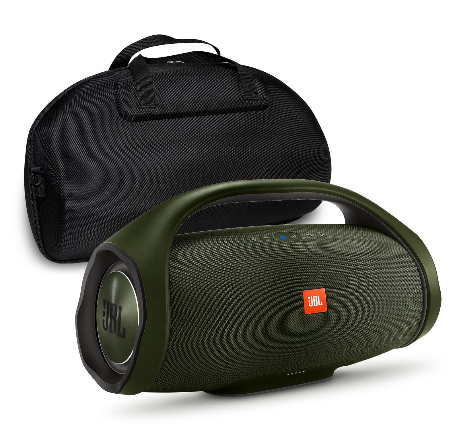 JBL Boombox Forest Green Bluetooth Speaker & Fitted Hardshell Case