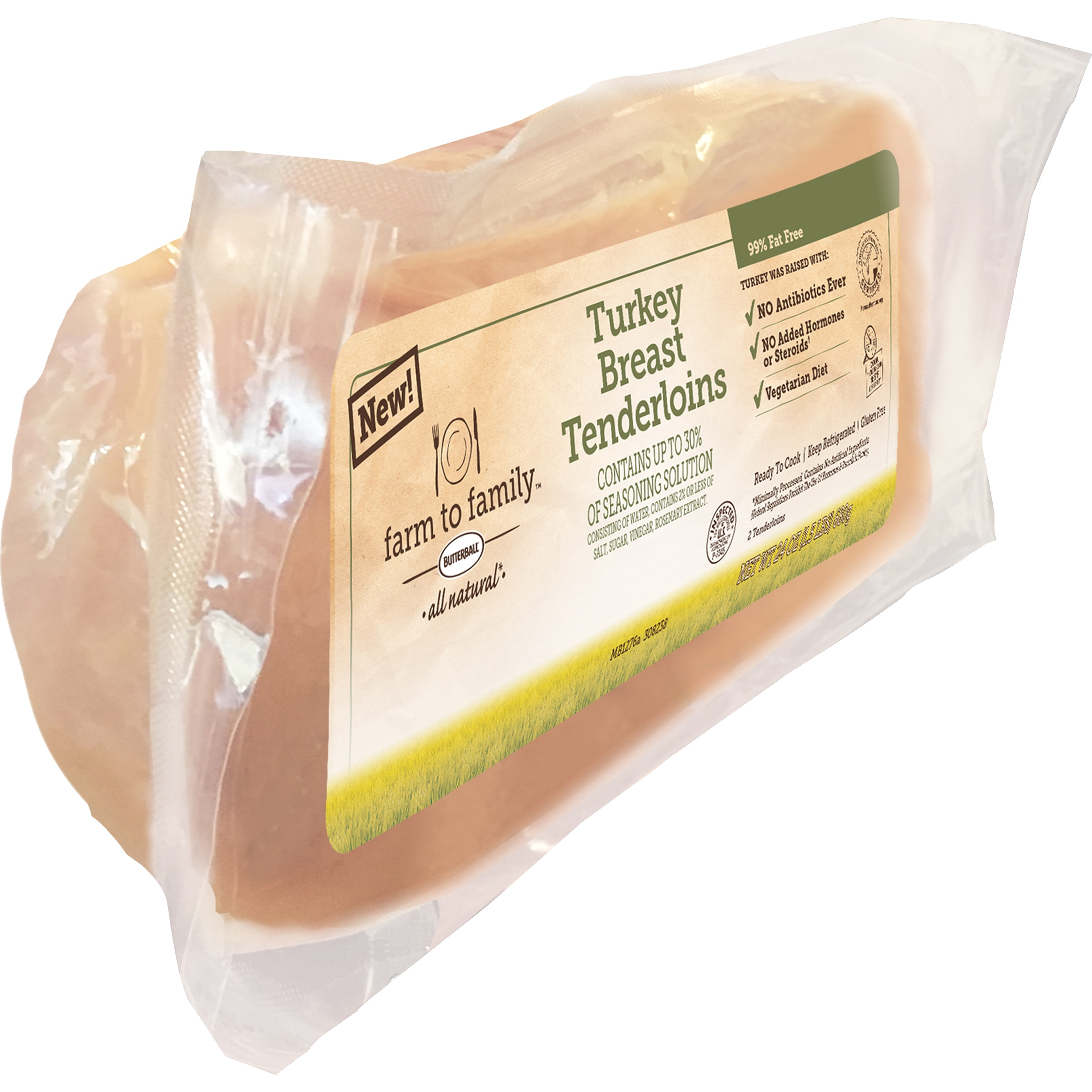 Butterball® Farm to Family™ Turkey Breast Tenderloins 24 oz. Pack
