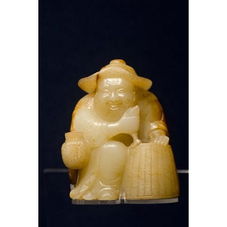 China Shanghai Shanghai Museum Carved jade fisherman Stretched Canvas - Cindy Miller Hopkins  DanitaDelimont (11 x 16)