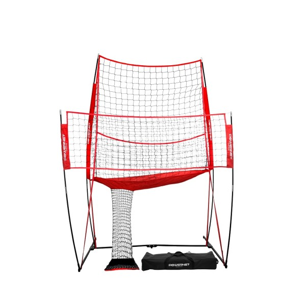 PowerNet Volleyball Practice Net Station by