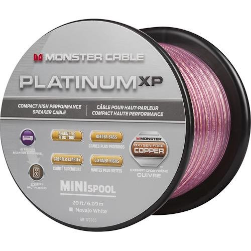Monster - Platinum XP Clear Jacket MKIII 50' Compact Speaker Cable - Clear/Copper